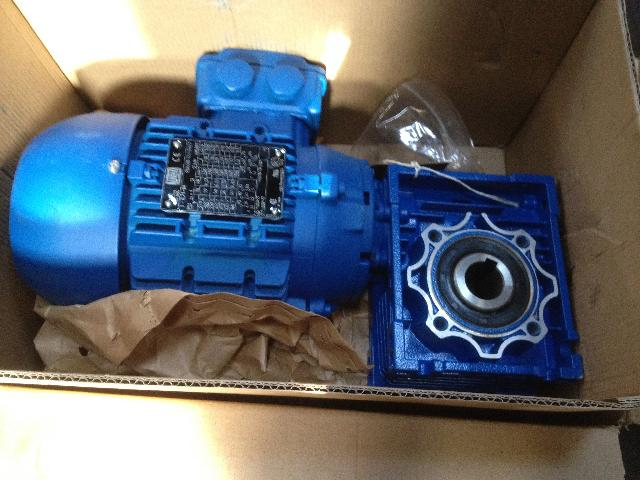 New Fenner worm type gearbox and motor